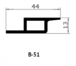 Уплотнительный профиль 51-III-60 ВОСХОД (порог Муссон Ротор)